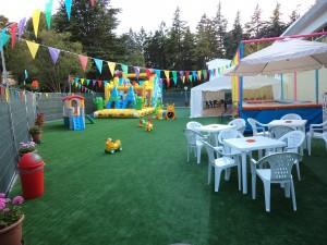 Il parco giochi all'aperto